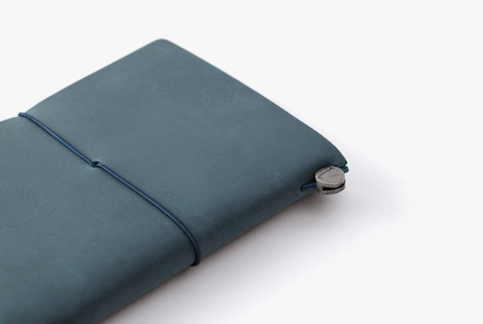 Midori Passport Sized Traveler's Notebook - Blue Leather Starter Kit