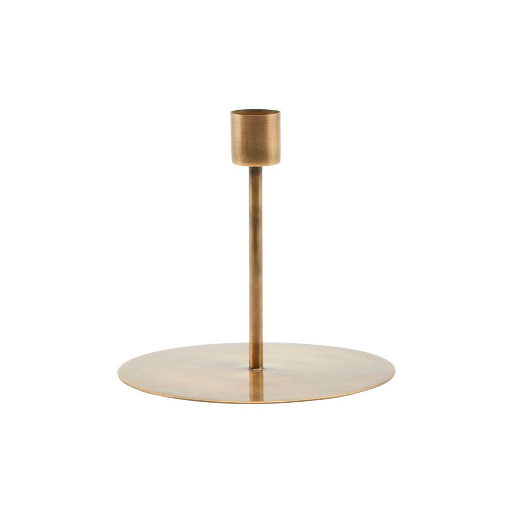 Anit Dinner Candle Stand - Tall Antique Brass