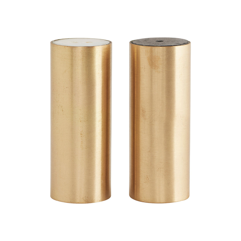 Brass Salt and Pepper Shakers