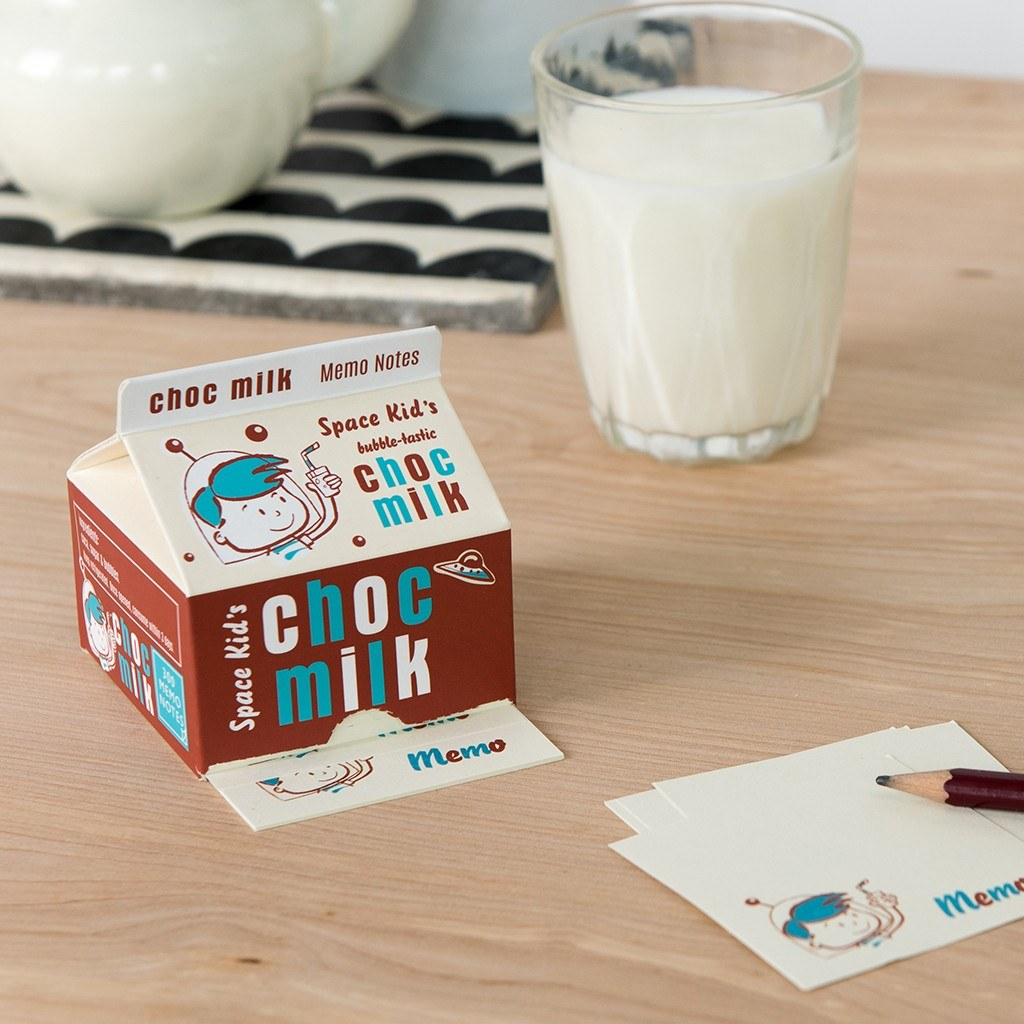 Space Kids Milk Carton Memo Pad