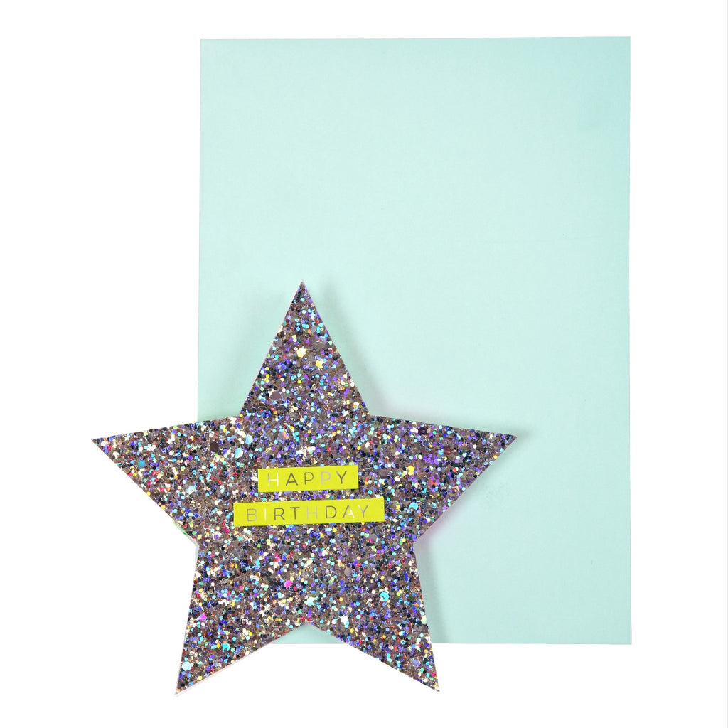 Star and Rainbow Honeycomb Card