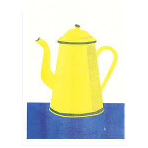 Coffee Pot Risograph Print