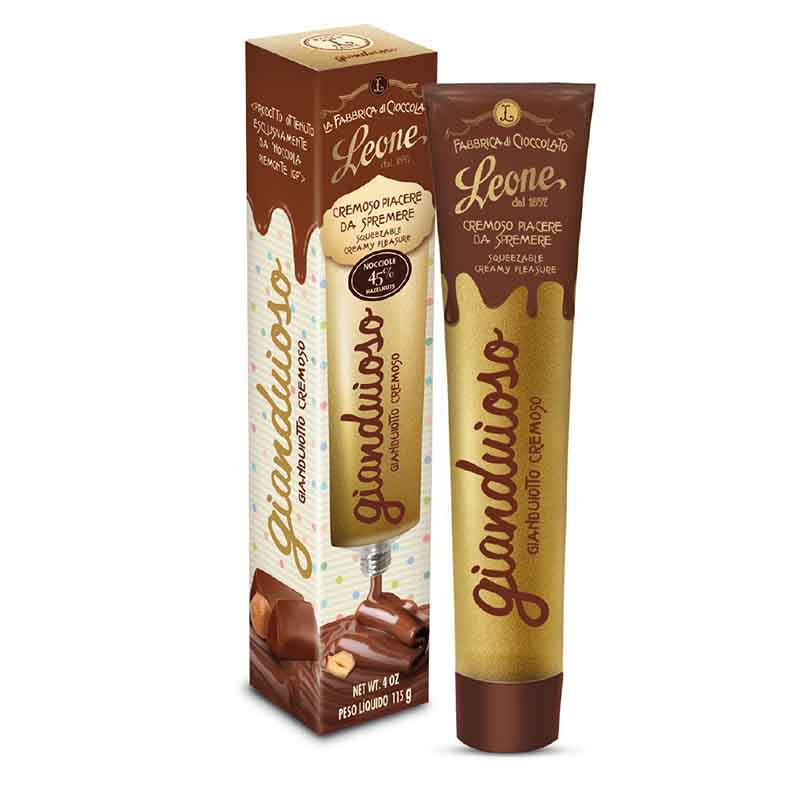 Tube of Leone Gianduja Hazelnut Chocolate Spread