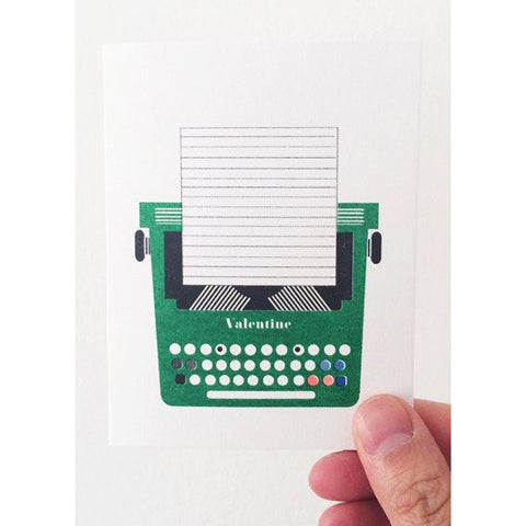 Typewriter Mini Card