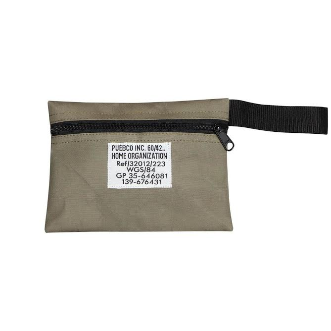 Laminated Fabric Pouch - Olive