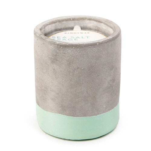 Sea Salt & Sage Soywax Candle in Concrete