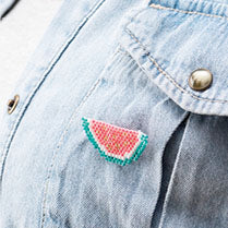 Beaded Watermelon Brooch Kit