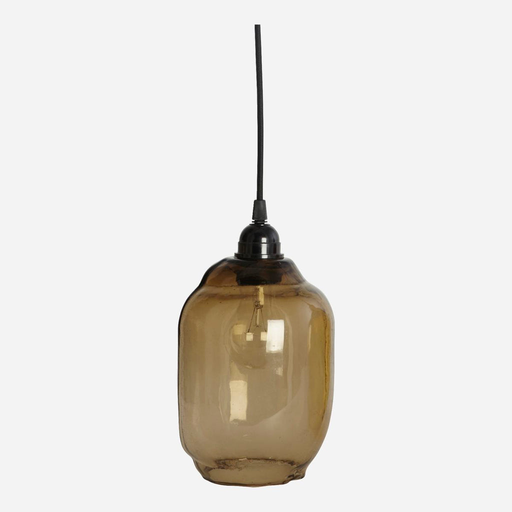 Hand Blown Glass Lampshade - Smoke Grey