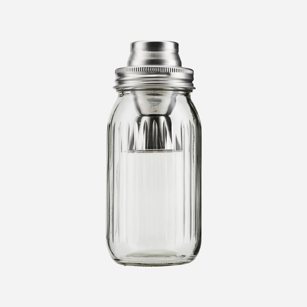 Glass Cocktail Shaker with Jigger