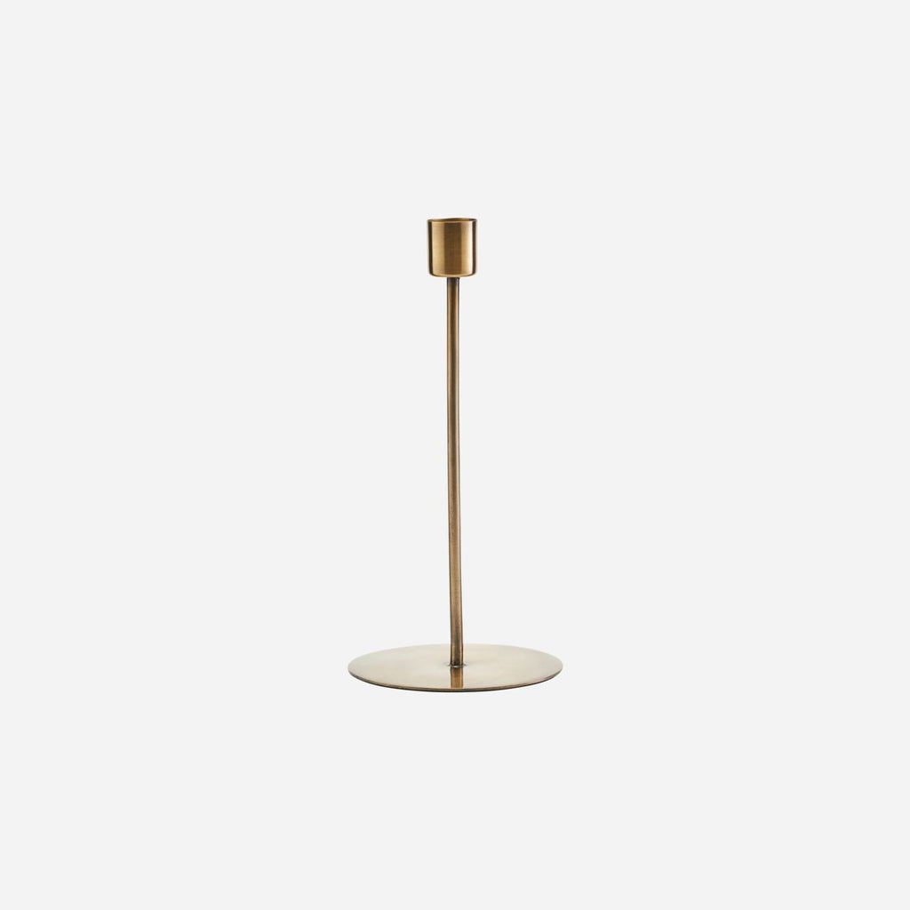 Anit Dinner Candle Stand - Extra Tall Antique Brass