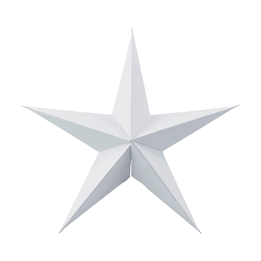 Medium White Paper Star Ornaments, Pack of 2