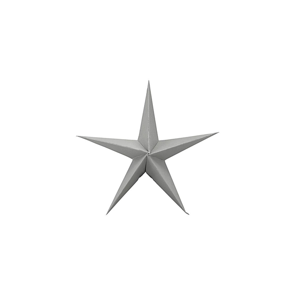 Small Grey Paper Star Ornaments, Pack of 3