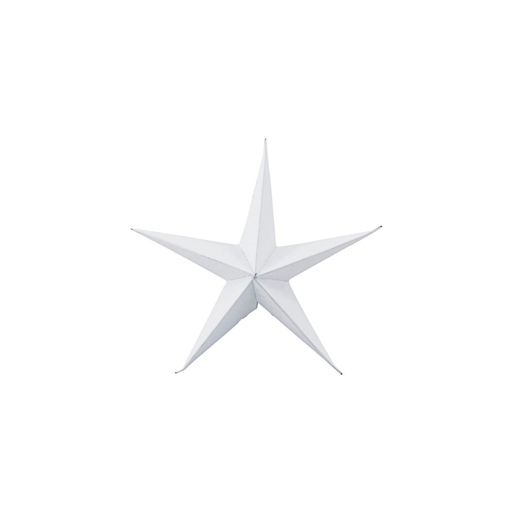 Small White Paper Star Ornaments, Pack of 3