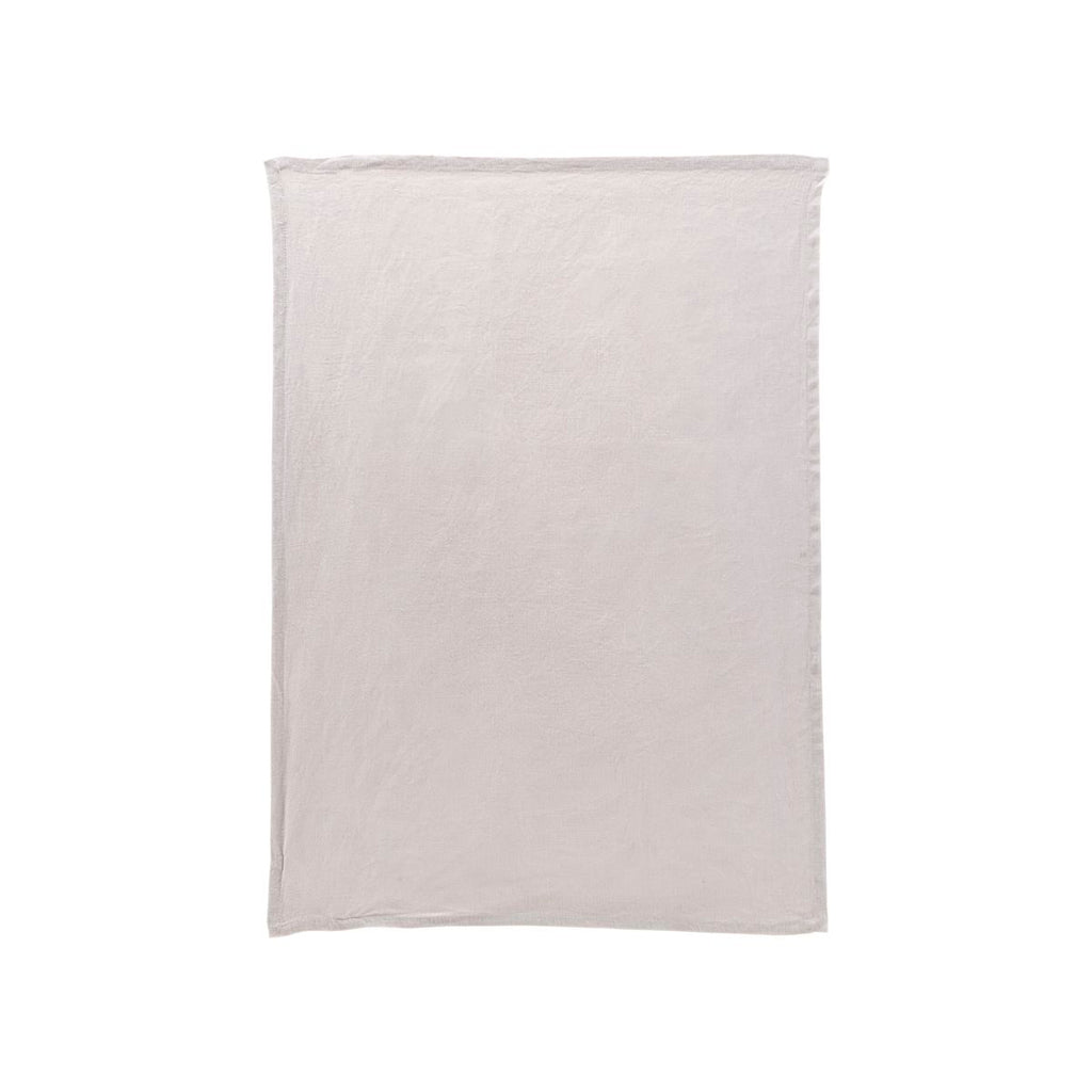 Washed Linen Tea Towel - Light Grey