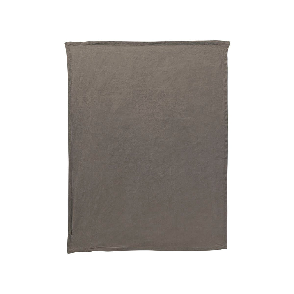 Washed Linen Tea Towel - Olive Grey