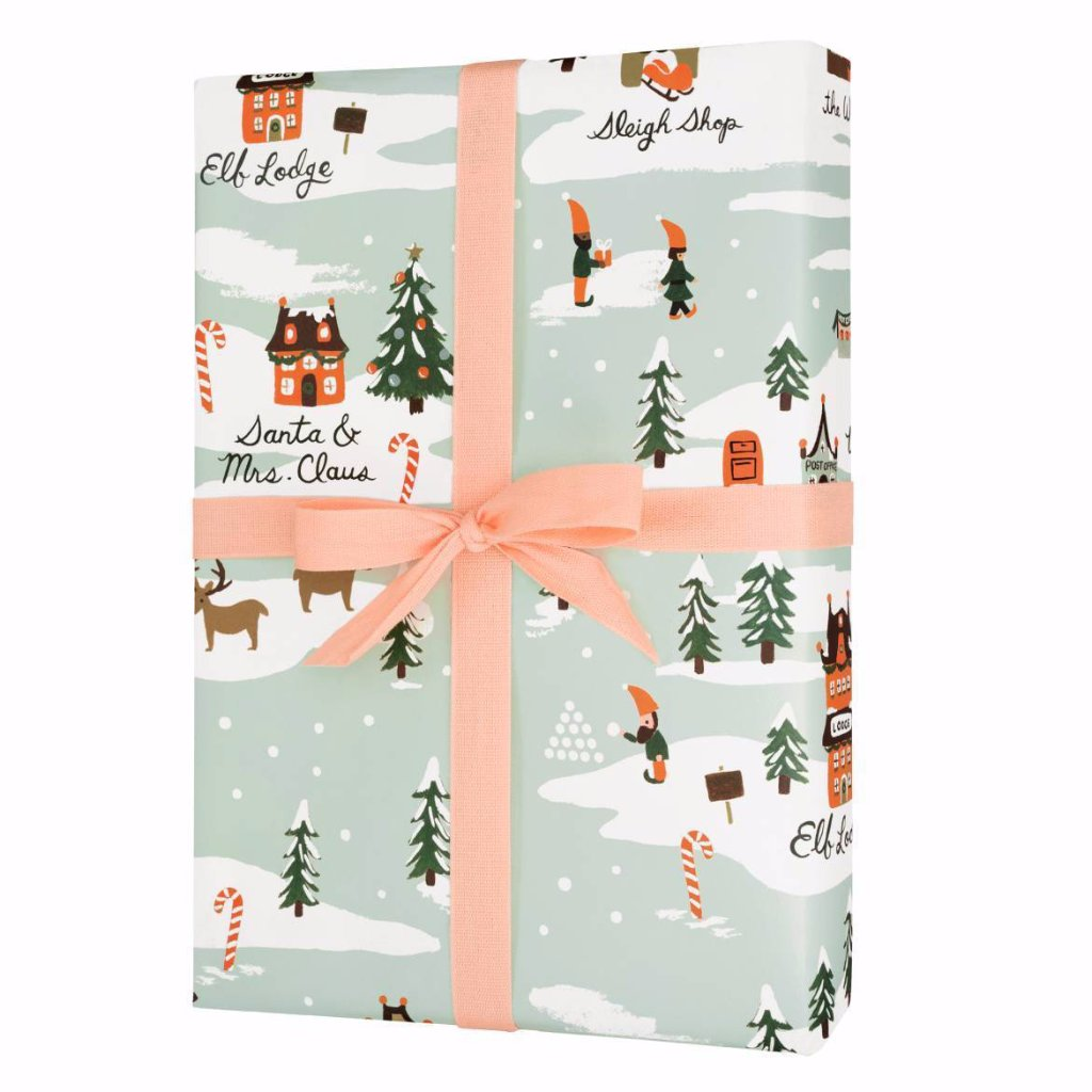 North Pole - Three Christmas Wrapping Paper Sheets from Rifle Paper Co.