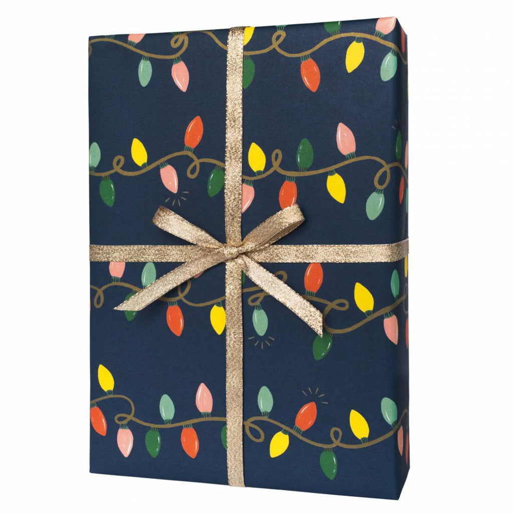 Holiday Lights - Three Christmas Wrapping Paper Sheets from Rifle Paper Co.
