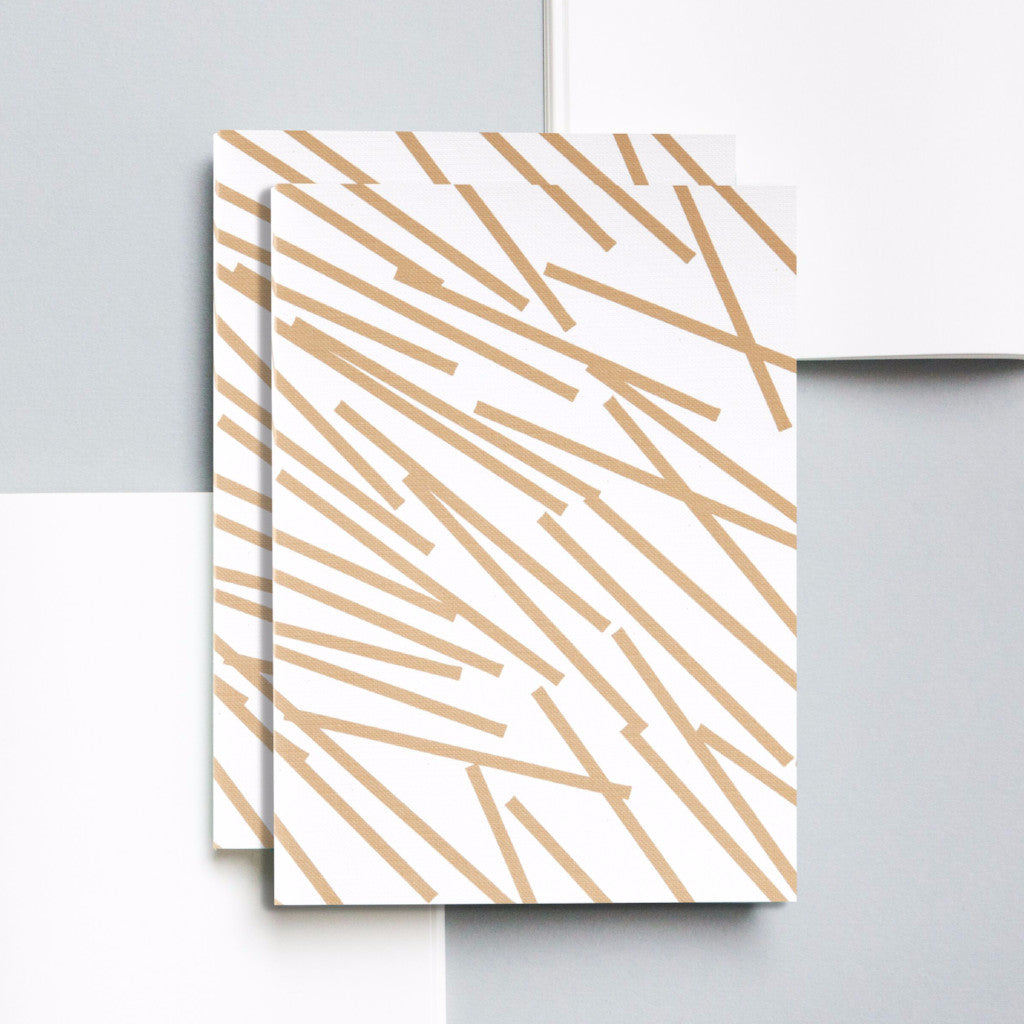 Gold Lines Print Layflat Notebook