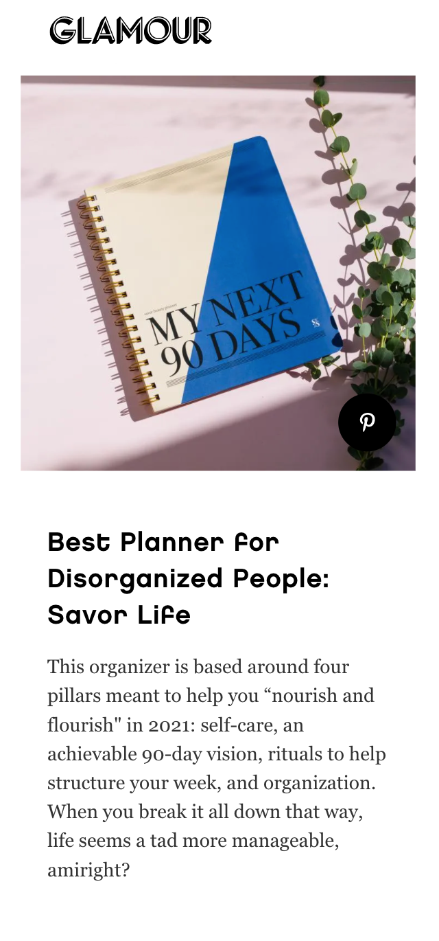 Glamour: Best Planner for Disorganized People