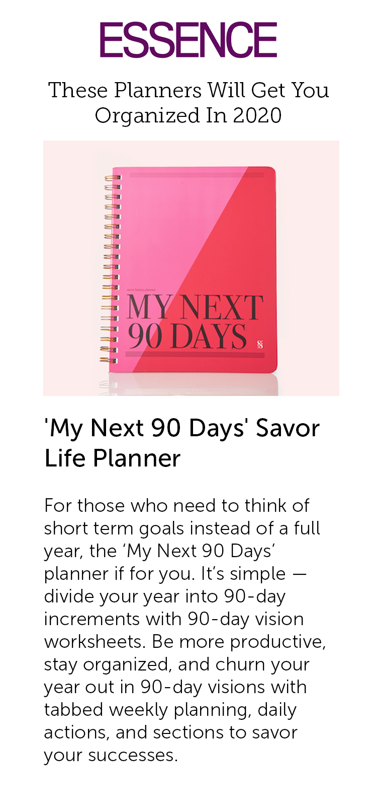 Essence: These Planners Will Get You Organized In 2020