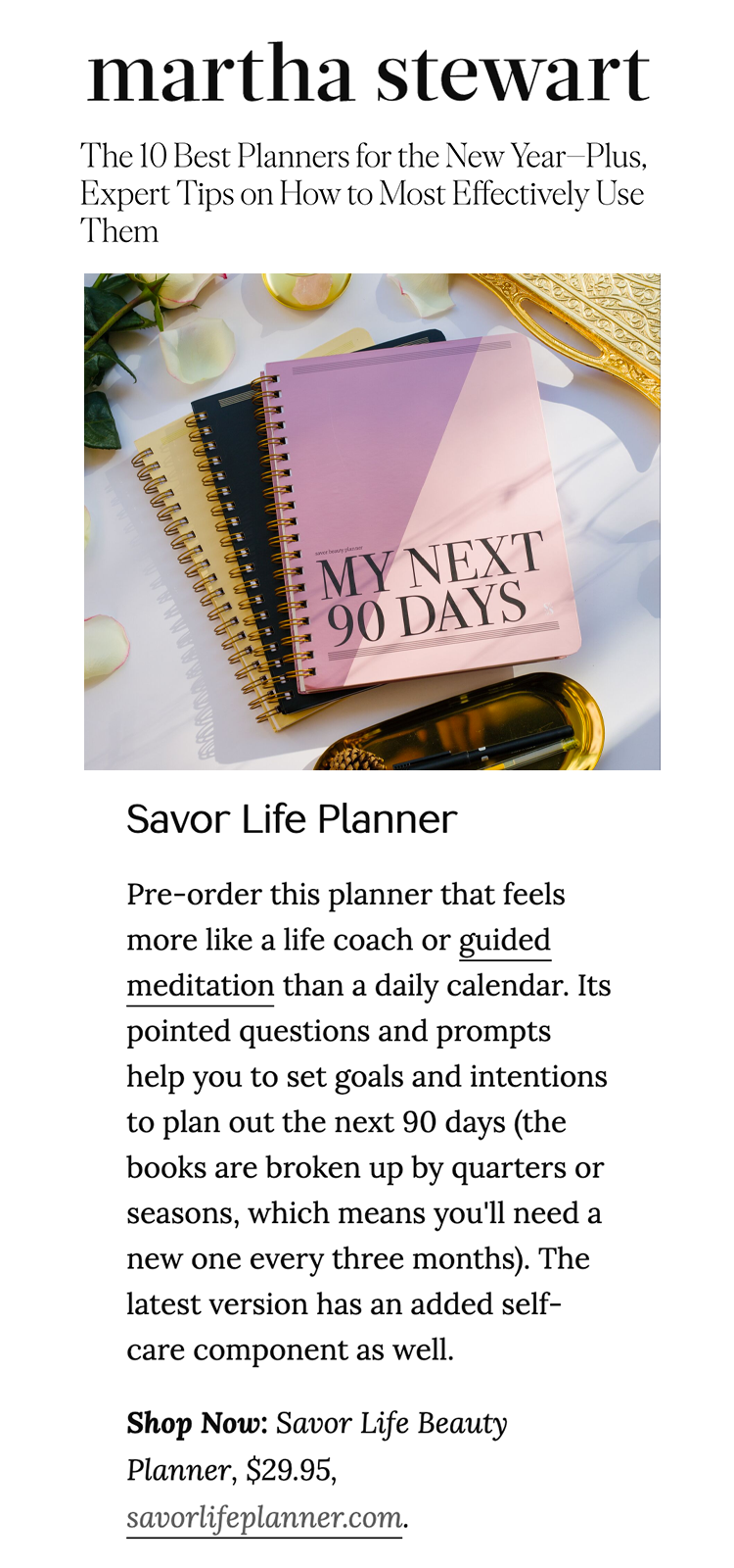 Martha Stewart: The 10 Best Planners for the New Year—Plus, Expert Tips on How to Most Effectively Use Them