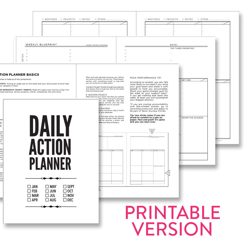 classic daily action planner pdf available for download