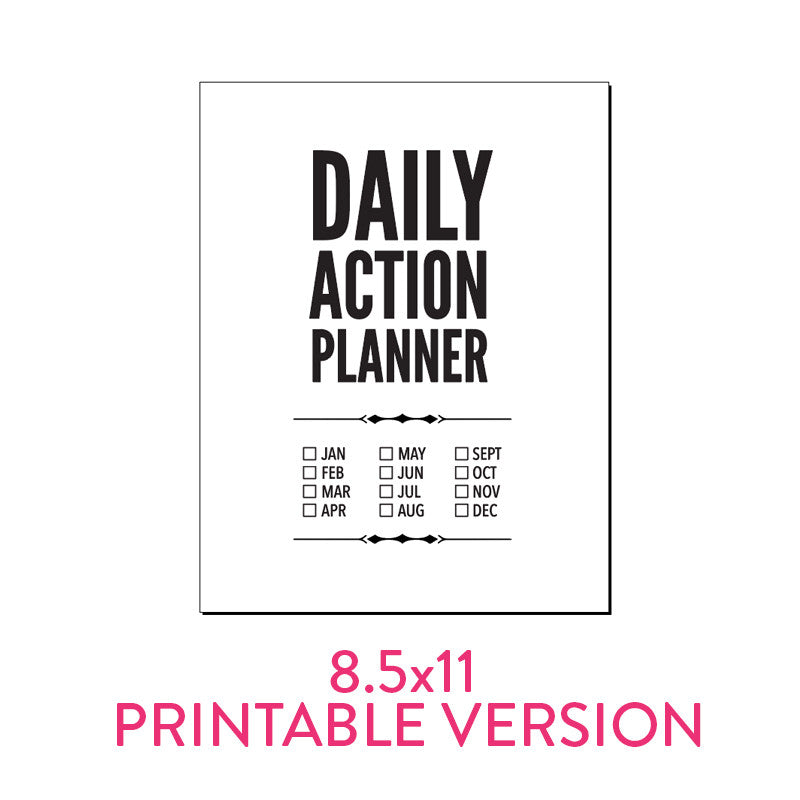 Classic Daily Action Planner PDF Available for Download!