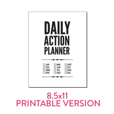Daily Action Planner Basic | Printable PDF