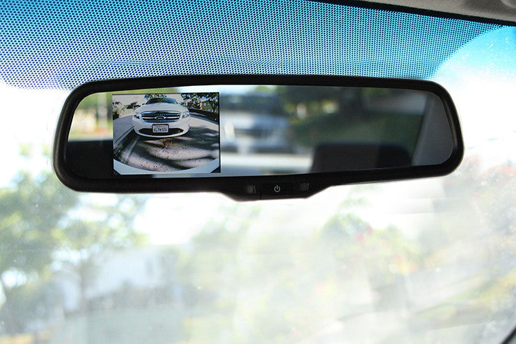 "OEM Replacement Rear view Mirror with 3.5"" LCD Display for Back Up Camera - Backup Camera"