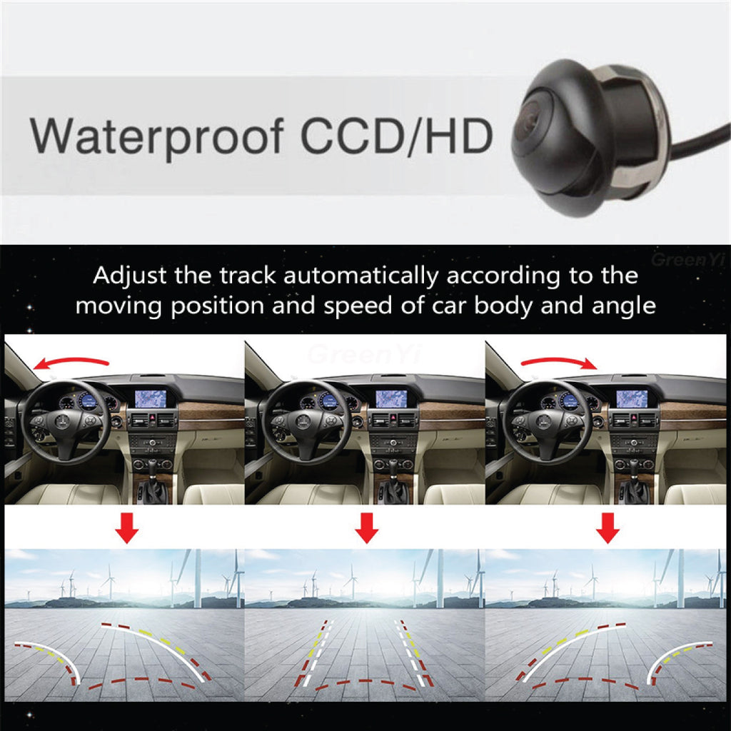 Premium Quality HD Backup Camera With Active Parking Lines