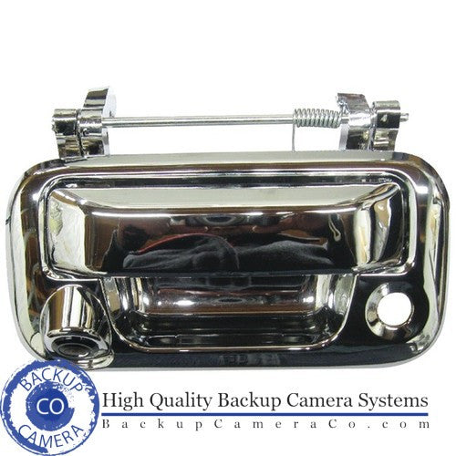 2005-2013 Ford F-Series Chrome Tailgate Handle Rear view Back Up Camera with Night Vision and Parking Guidance Lines - Backup Camera