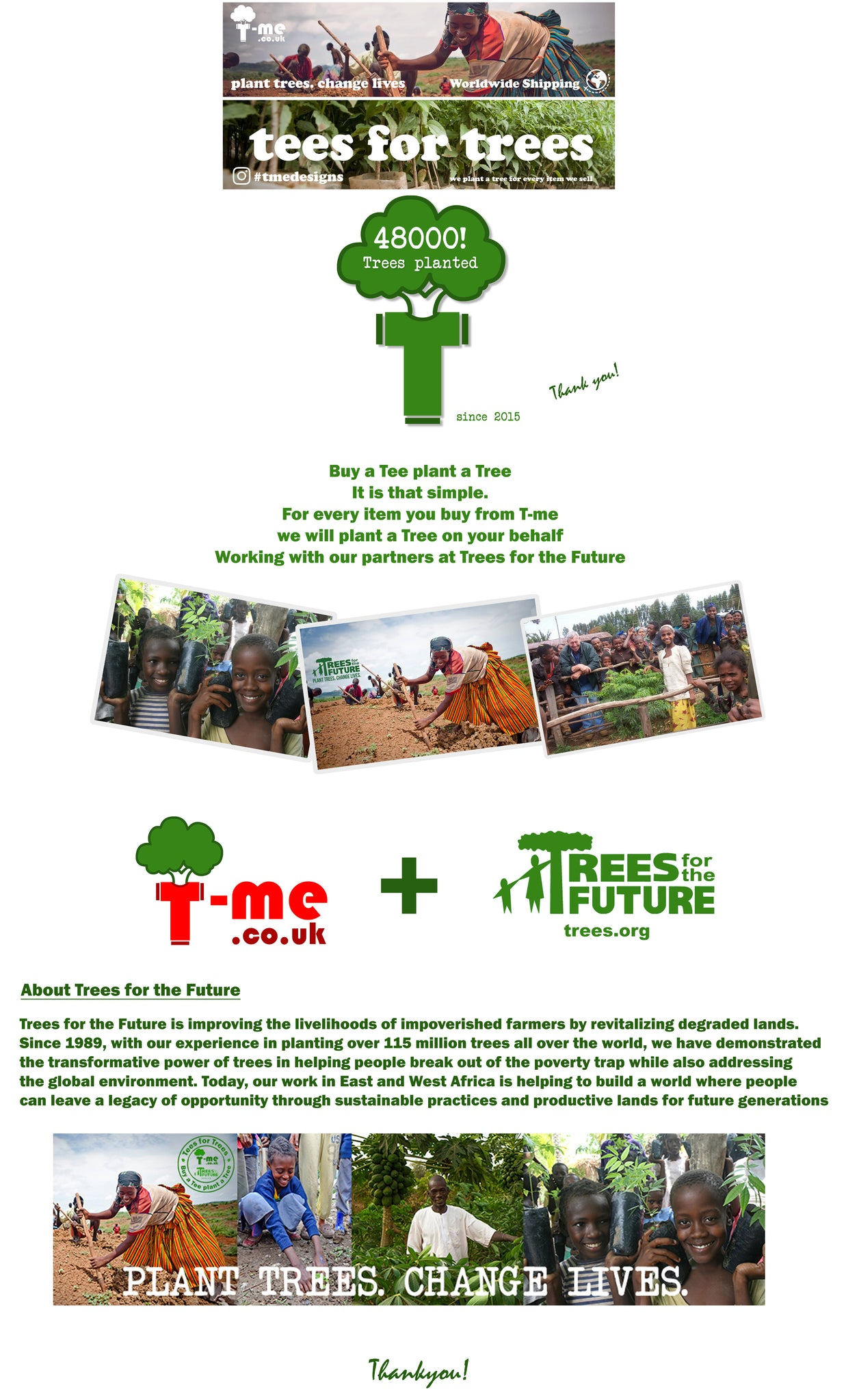 Tees For Trees T Me