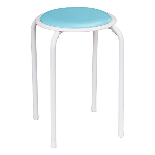 Fat Catalog Assorted Color Metal Stack Stool with Padded Seat, ALT1100SO (Pack of 5)