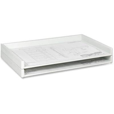 SAF4897 - Safco Heavy-Duty Plastic Stacking Trays