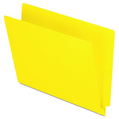 Pendaflex Colour End Tab Folders, Full Tab, Letter Size, Yellow, 100 per Box (H110DY)