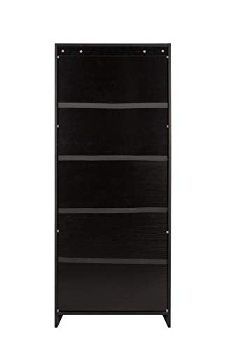 OneSpace 50-LD0105SHLF Essentials 5-Tier Book Shelf Bookshelf, Black
