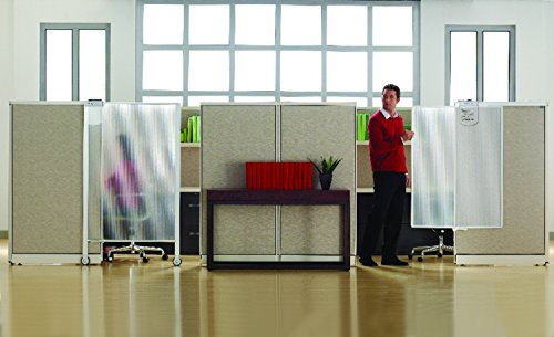 Quartet Workstation Privacy Screen, 36 x 48 Inches, Sliding, Partial Length (WPS1000)