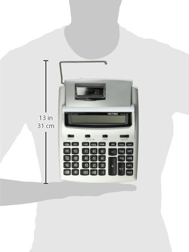Victor 1212-3A 12 Digit Two-Color Commercial Printing Calculator, Adding Machine Calculator with Tape, Great for Home and Office Desks, 2.7 Lines/Second