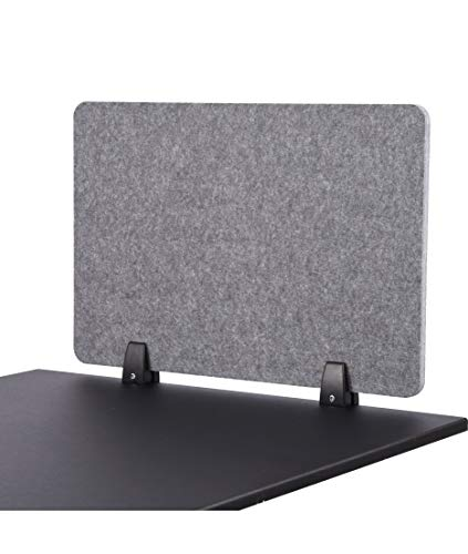 "ReFocus Raw Clamp-On Acoustic Desk Divider - Reduce Noise and Visual Distractions with This Lightweight Desk Mounted Privacy Panel (Castle Gray, 24"" X 16"")"