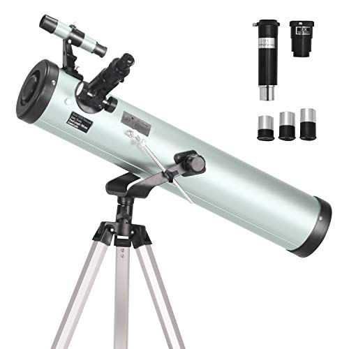 ToyerBee Telescope 76mm Aperture 700MM, with 3 Eyepieces H20mm H12