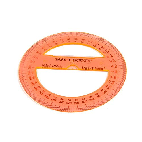 hand2mind Plastic 360 Degree Protractor (Pack of 24)
