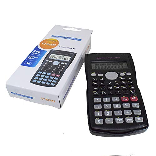 Pack 8 pcs Scientific Calculator,Double Lines Display Engineering Scientific Calculator with Slide Off Case(8pcs)