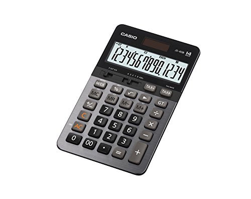 Casio JS-40B 14-Digit Calculator GT Dual Power / Office Desktop Accounting Financial
