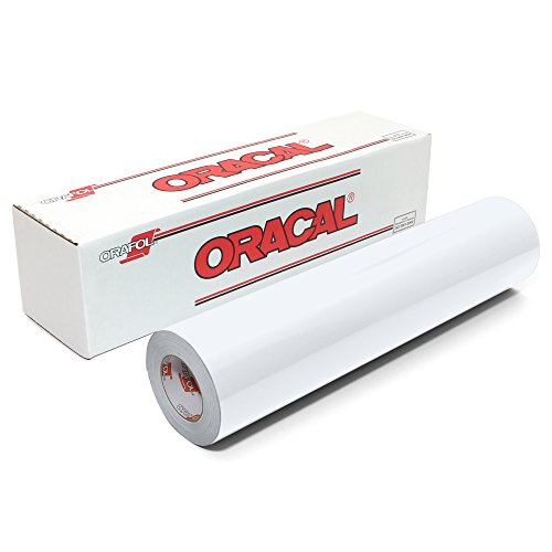 Oracal 651 Glossy Vinyl Roll 12 Inches by 150 Feet - White