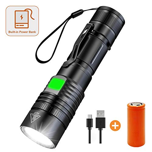 Camping Flashlight Cycling Kit Battery USB cable Rechargeable Zoomable