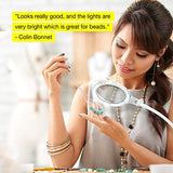 Brightech LightView Pro Flex 2-in-1 Magnifying Glass LED Lamp - Lighted Magnifier with Stand & Clamp - for Desk, Sewing, Table - Bright Light for Reading, Crafts - 2.25x Magnification