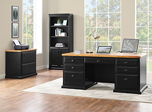 Martin Furniture Southampton 2-Drawer Lateral File Cabinet - Fully Assembled