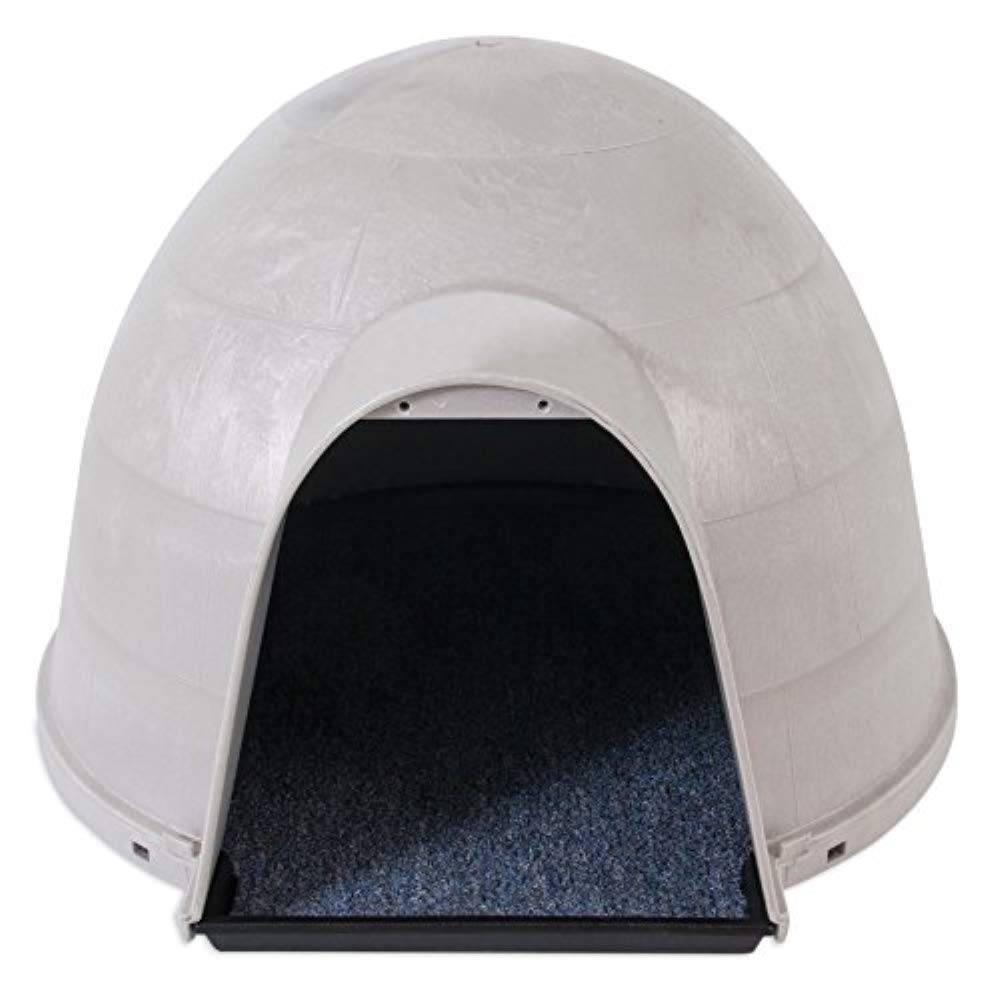 Petmate Kitty Kat Condo Outdoor Cat House Rain and Snow Diverting Hood Carpeted Floor One Size