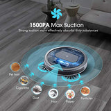 Homasy Robot Vacuum Cleaner with 1500PA Powerful Suction, Super Quiet Design and Remote Control, Self-Charging Robotic Vacuum Cleaner with HEPA Filter, 2 Side Brushes and 4 Specialized Cleaning Modes