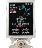 Large Rustic Black Felt Letter Board Ultimate Bundle Farmhouse Vintage White Wood Frame and Stand by Felt Creative Home Goods 12x16 Inch Changeable Message Board 800+ Letter Set Numbers Emoji Cursive